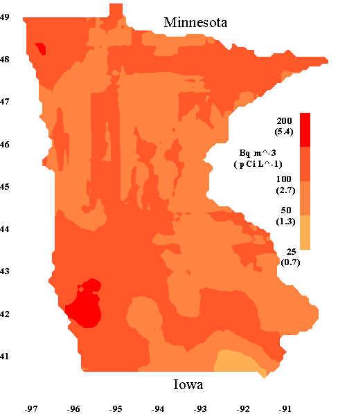 Radon In Bedrooms In Minnesota And Iowa