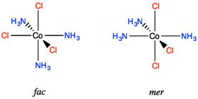 SC17  Stereochemistry in Octahedra: Cis vs Trans and Fac vs